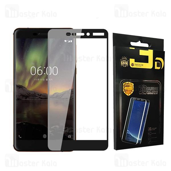 محافظ صفحه شیشه ای تمام صفحه تمام چسب نوکیا Nokia 6.1 2018 Mocol Glass