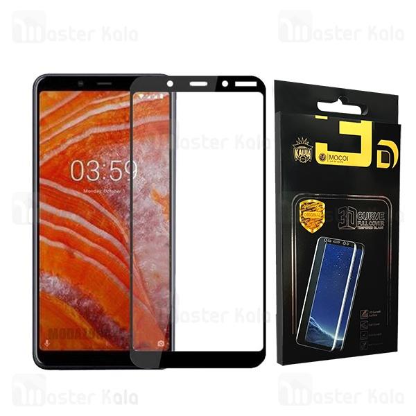 محافظ صفحه شیشه ای تمام صفحه تمام چسب نوکیا Nokia 3.1 Plus Mocol Glass