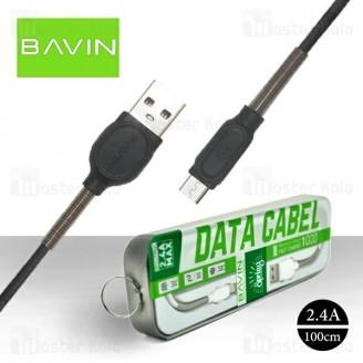 کابل میکرو یو اس بی باوین Bavin CB-121 USB Cable توان 2.4 آمپر و طول 1 متر