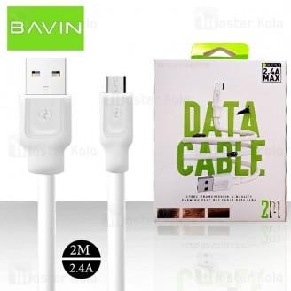 کابل میکرو وی اس بی باوین Bavin CB130-2M USB Cable توان 2.4 آمپر و طول 2 متر