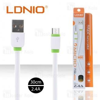 کابل میکرو یو اس بی الدینیو LDNIO XS-073 Micro Cable به طول 30 سانتی متر