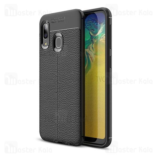 قاب محافظ ژله ای طرح چرم سامسونگ Samsung Galaxy A20e Auto Focus