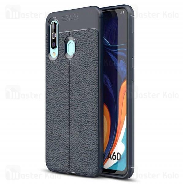 قاب محافظ ژله ای طرح چرم سامسونگ Samsung Galaxy A60 Auto Focus