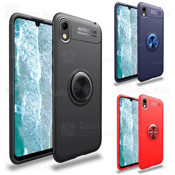 قاب ژله ای طرح چرم انگشتی هواوی Huawei Y5 2019/Y5 Prime 2019/Honor 8s Becation A.F Magnetic Ring