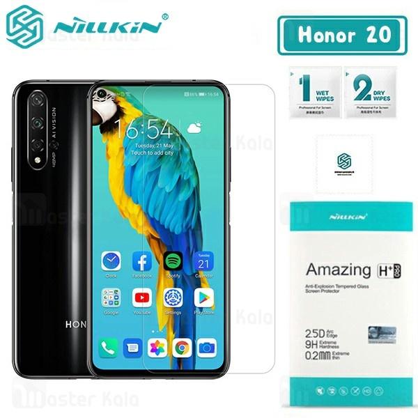 محافظ صفحه شیشه ای نیلکین هواوی Huawei Honor 20 / 20 Pro Nillkin H+ Pro + محافظ لنز