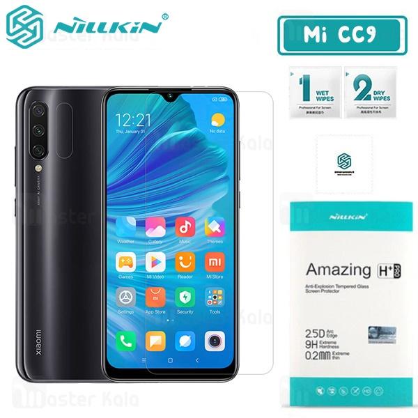 محافظ صفحه شیشه ای نیلکین شیائومی Xiaomi Mi CC9 / Mi 9 Lite Nillkin H+ Pro + محافظ لنز