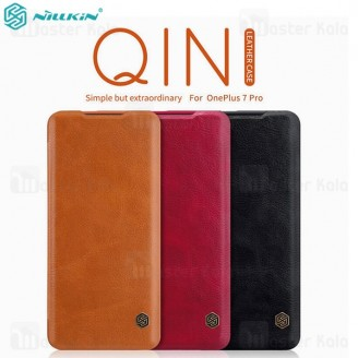 کیف چرمی نیلکین وان پلاس OnePlus 7 Pro Nillkin Qin Leather Case
