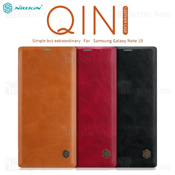 کیف چرمی نیلکین سامسونگ Samsung Galaxy Note 10 Nillkin Qin Leather Case