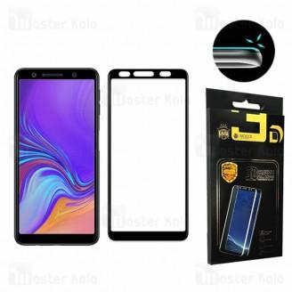 محافظ صفحه شیشه ای تمام صفحه تمام چسب سامسونگ Samsung Galaxy A7 2018 Mocol 6D Glass