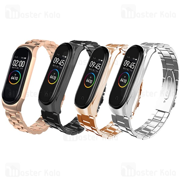 بند فلزی دستبند سلامتی شیائومی Xiaomi Mi Band 4 Metal Strap