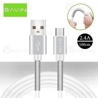 کابل میکرو یو اس بی باوین Bavin CB-037 USB Cable توان 2.4 آمپر و طول 1 متر