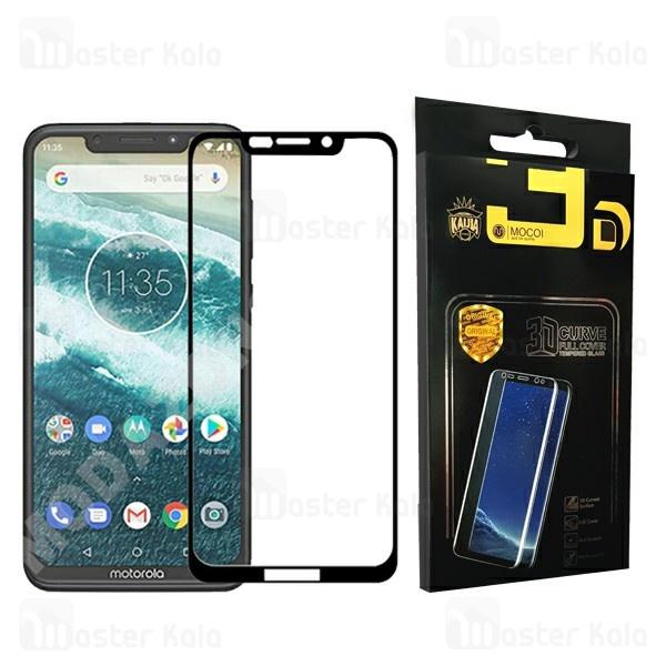 محافظ صفحه شیشه ای تمام صفحه تمام چسب موتورولا Motorola One / P30 Play Mocol Glass