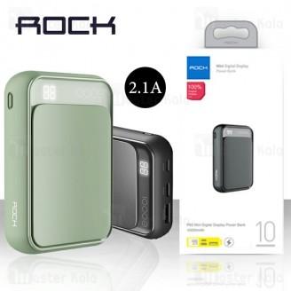 پاوربانک 10000 میلی آمپر راک Rock RMP0396 Mini Power Bank توان 2.1 آمپر
