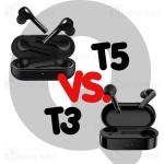 مقایسه هندزفری QCY T5 و QCY T3 | کدام را بخریم؟