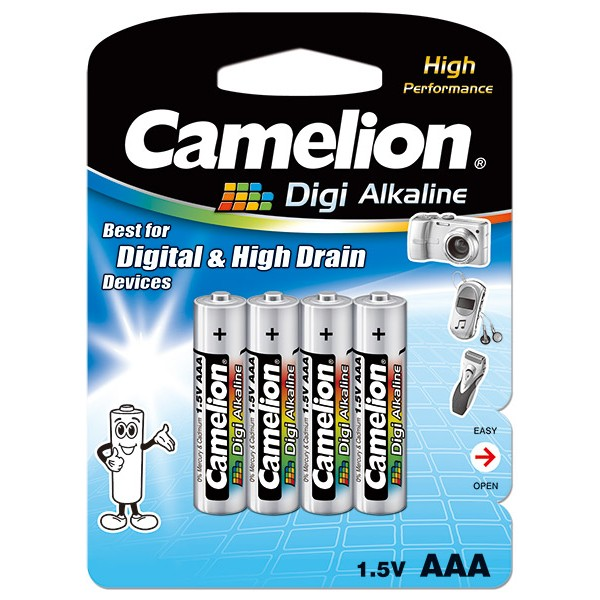 باتری نیم قلمی 4 تایی کملیون Camelion LR03-BP4DG Alkaline AAA