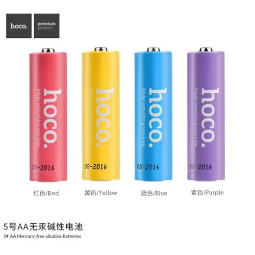 باتری قلمی هوکو رنگین کمانی Hoco LR6 Alkaline AA