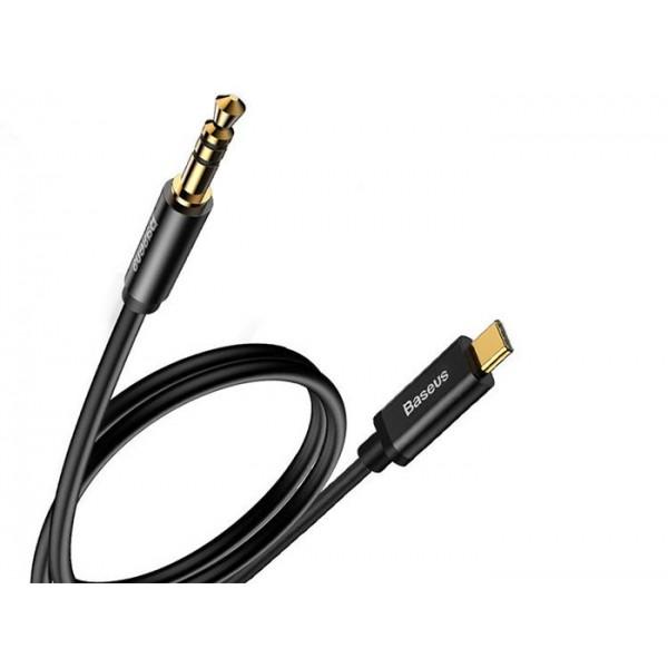 کابل تبدیل انتقال صدا تایپ سی به 3.5 میلیمتری بیسوس Baseus M01
