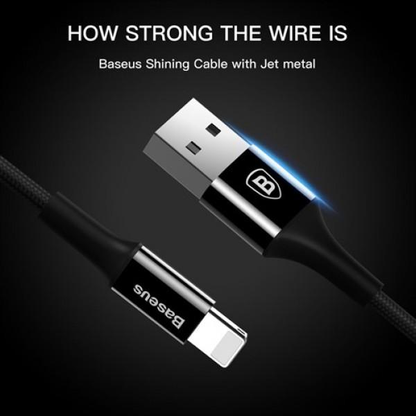 کابل لایتنینگ بیسوس Baseus Shining Cable With Jet Metal