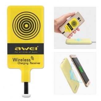 کیت شارژر وایرلس میکرو یو اس بی اوی Awei Qi Wireless Receiver