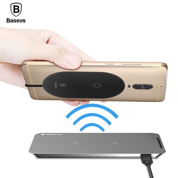 کیت Type C شارژر وایرلس Baseus Microfiber Wireless