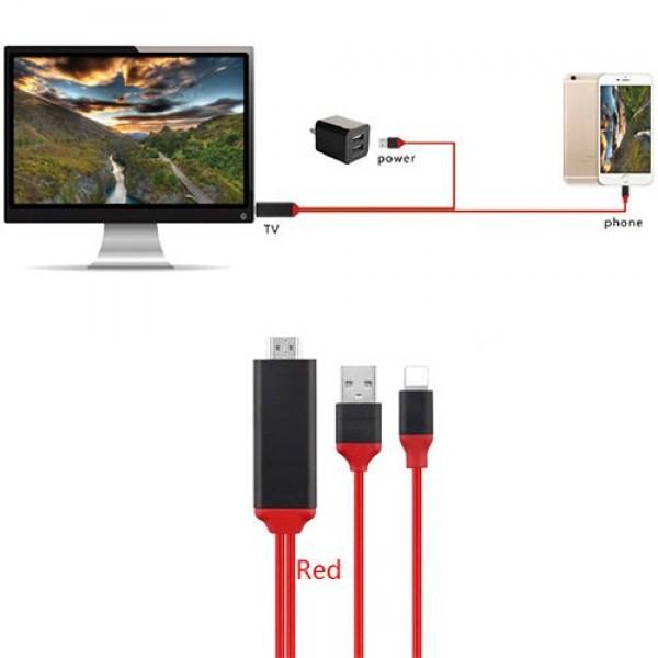 کابل HDMI لایتنینگ برای اتصال به تلویزیون و نمایشگر (کابل Lighting به HDTV) Earldom ET-W5
