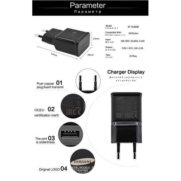 شارژر اصلی سامسونگ فست شارژ همراه با کابل تایپ سی مدل Samsung EP-TA20EBE