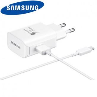 شارژر اصلی سامسونگ فست شارژ همراه با کابل تایپ سی مدل Samsung EP-TA300CWEGKR