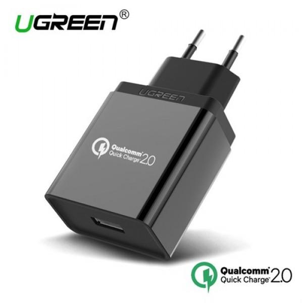 آداپتور شارژر فست شارژ 2.0 Qualcomm یوگرین UGREEN CD122