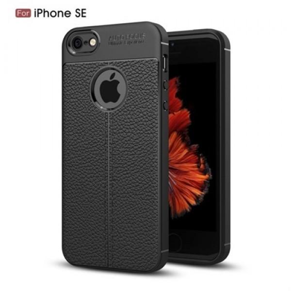 قاب محافظ ژله ای طرح چرم Apple iPhone 5-5s-SE مدل Auto Focus
