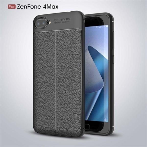 قاب محافظ ژله ای طرح چرم Asus Zenfone 4 Max ZC554KL مدل Auto Focus