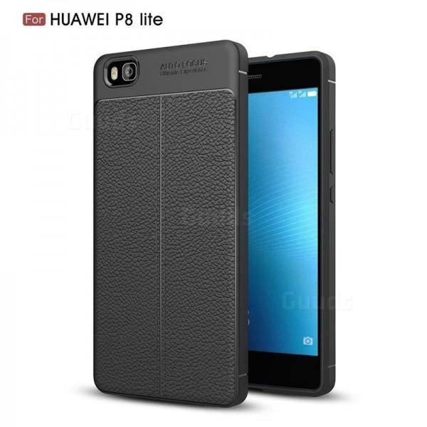 قاب محافظ ژله ای طرح چرم Huawei P8 Lite مدل Auto Focus