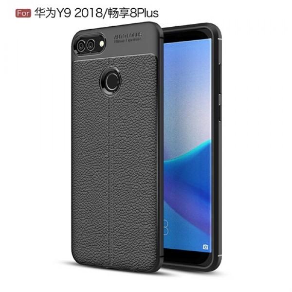 قاب محافظ ژله ای طرح چرم Huawei Y9 2018 / Enjoy 8 Plus مدل Auto Focus