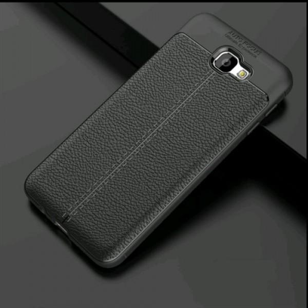قاب محافظ ژله ای طرح چرم Samsung Galaxy J7 Prime مدل Auto Focus