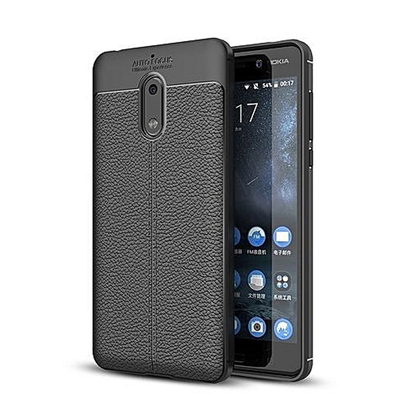 قاب محافظ ژله ای طرح چرم Nokia 6 مدل Auto Focus