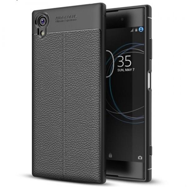 قاب محافظ ژله ای طرح چرم Sony Xperia XA1 Plus مدل Auto Focus