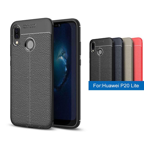 قاب محافظ ژله ای طرح چرم Huawei Nova 3e / P20 Lite مدل Auto Focus