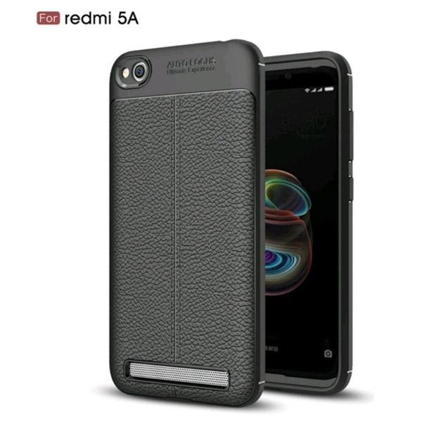قاب محافظ ژله ای طرح چرم Xiaomi Redmi 5A مدل Auto Focus