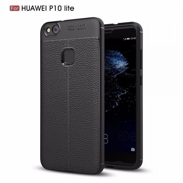 قاب محافظ ژله ای طرح چرم Huawei P10 Lite مدل Auto Focus