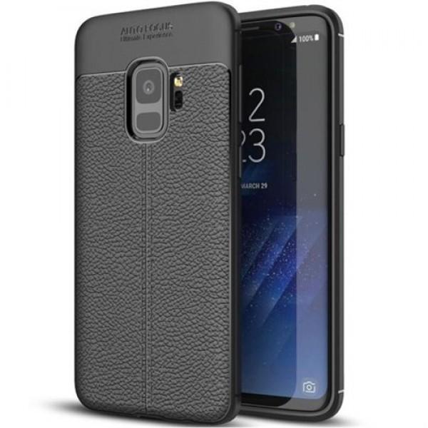 قاب محافظ ژله ای طرح چرم Samsung Galaxy S9 مدل Auto Focus