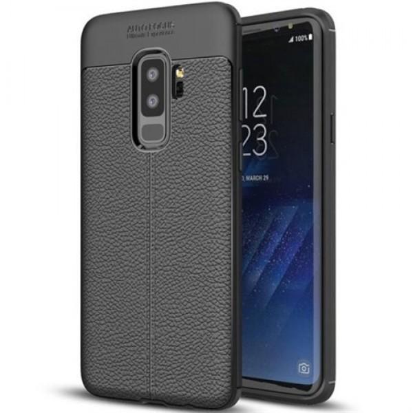 قاب محافظ ژله ای طرح چرم Samsung Galaxy S9 Plus مدل Auto Focus