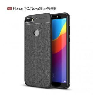 قاب محافظ ژله ای طرح چرم Huawei Honor 7C/Nova 2 Lite مدل Auto Focus