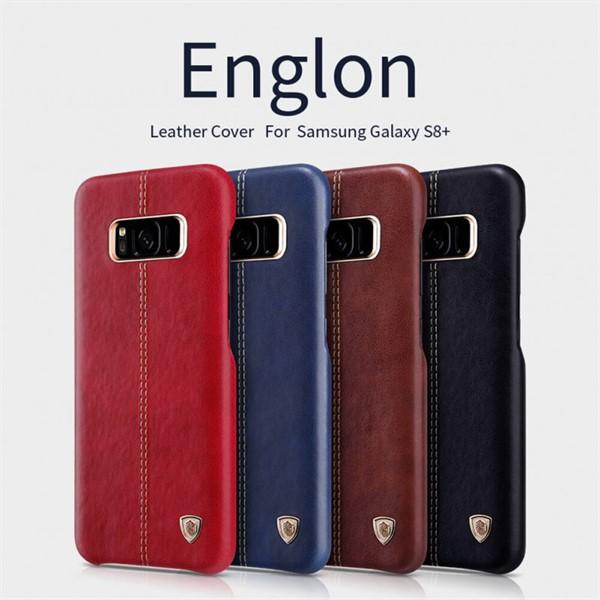 کاور محافظ چرمی نیلکین مدل Englon مناسب Samsung Galaxy S8 Plus