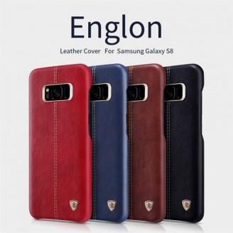 کاور محافظ چرمی نیلکین مدل Englon مناسب Samsung Galaxy S8