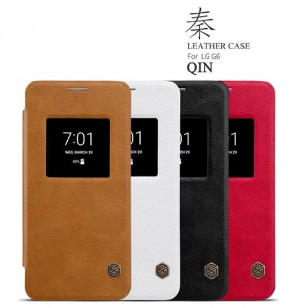 کیف چرمی هوشمند نیلکین مدل Qin مناسب LG G6