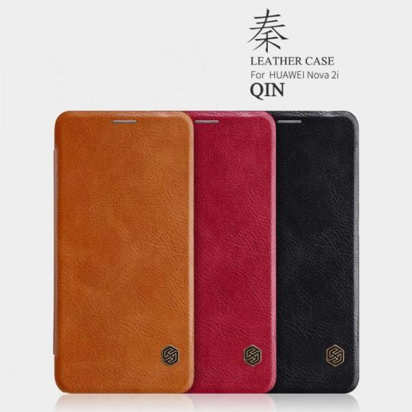 کیف چرمی نیلکین هواوی Huawei Mate 10 Lite Nillkin Qin Leather Case