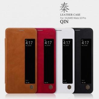 کیف چرمی هوشمند نیلکین هواوی Huawei Mate 10 Pro Nillkin Qin Leather Case
