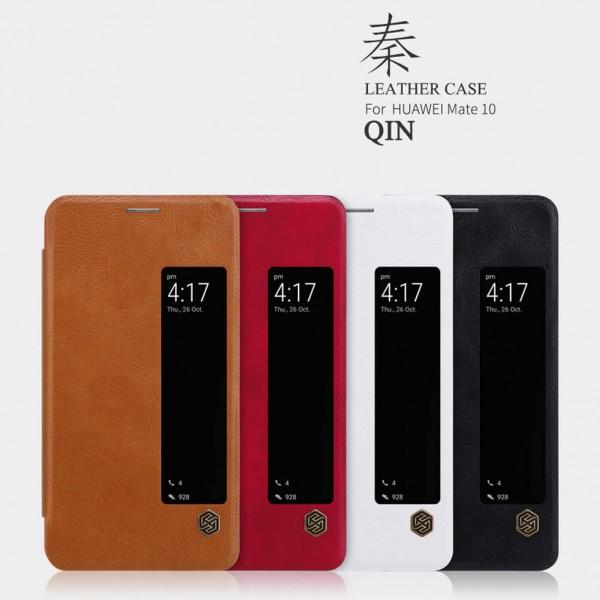 کیف چرمی هوشمند نیلکین هواوی Huawei Mate 10 Nillkin Qin Leather Case