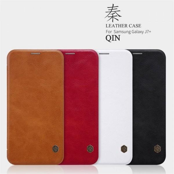 کیف چرمی نیلکین مدل Qin مناسب Samsung Galaxy C8/J7 Plus