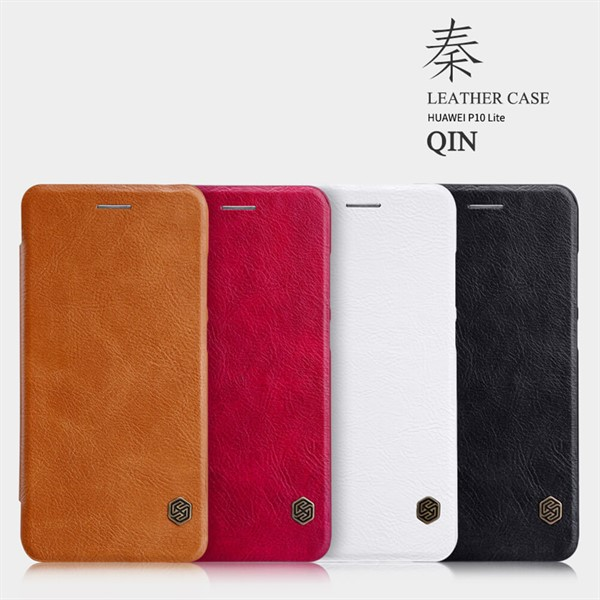 کیف چرمی نیلکین هواوی Huawei P10 Lite Nillkin Qin Leather Case