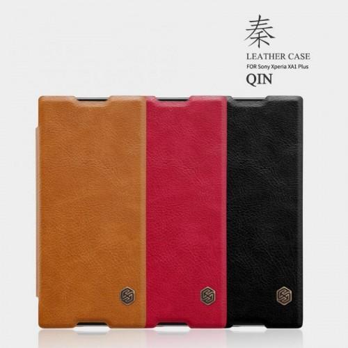 کیف هوشمند چرمی نیلکین Sony Xperia XA1 Plus مدل Qin